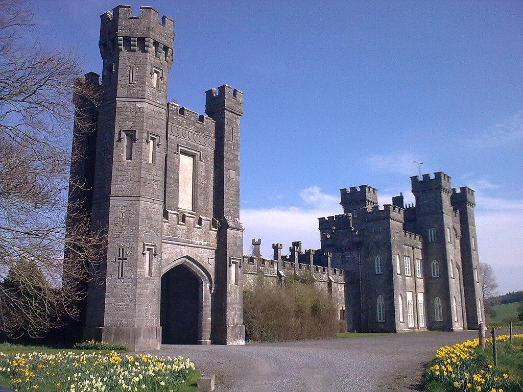 Knockdrin Castle from the left