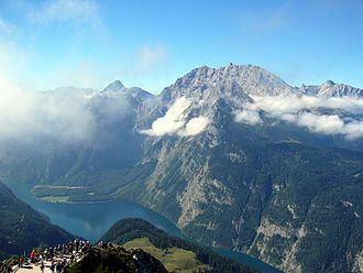 Bavarian Alps - View from the Jenner onto the Königssee