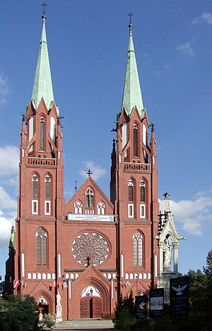 Zawiercie - Neo-Gothic Collegiate Church dedicated to St Peter and Paul from 1900