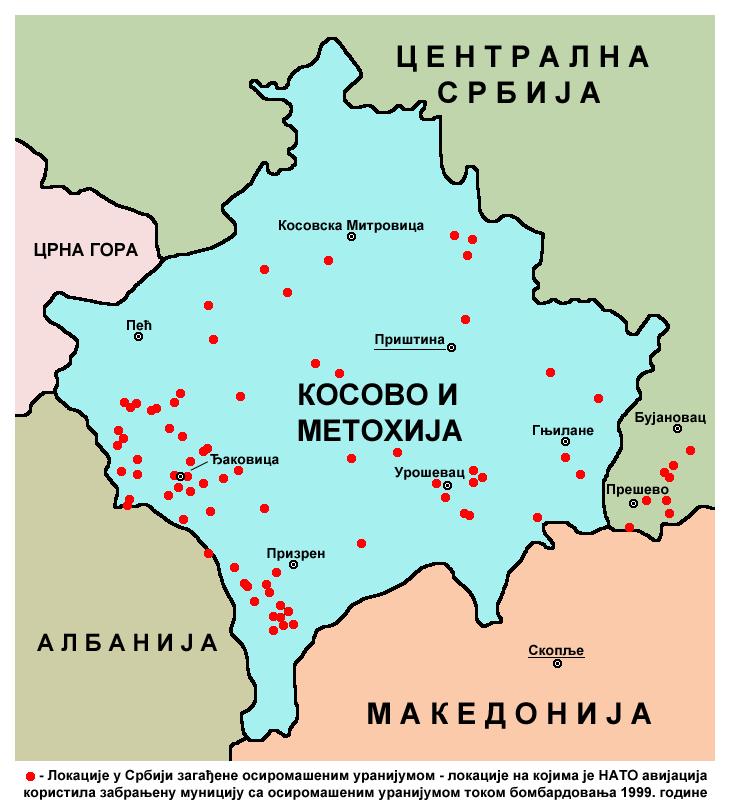 Kosovo uranium NATO bombing1999-sr