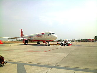 Coimbatore International Airport - An Air India Airbus A321 at the airport