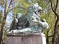 Krásná Lípa, socha lva.JPG