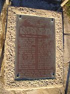 Captain Cook landing place plaque.