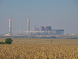 Kusile Power Station - Kusile construction seen from the N4