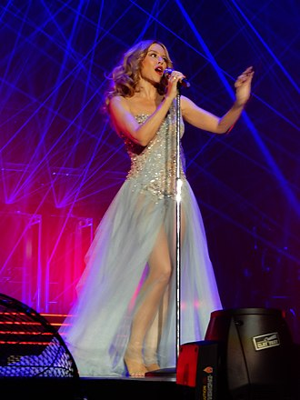 "Kiss Me Once - Minogue performing the album's title track, ""Kiss Me Once"", on the Kiss Me Once Tour."
