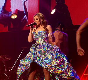 "Can't Get You Out of My Head - Minogue performing ""Can't Get You Out of My Head"" on the Aphrodite: Les Folies Tour, 2011."