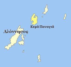 Kyra Panagia - Image: Kyrapanagia location
