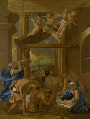 Adoration of the Shepherds (Poussin) - The Adoration of the Shepherds, 1633–34, by Nicolas Poussin