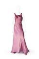 Lång aftonklänning, figursydd med klockad kjol, avskuren i midjan. Ryggen bar - Hallwylska museet - 89255.tif
