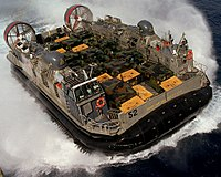 A U.S. Navy Landing Craft Air Cushioned (LCAC)