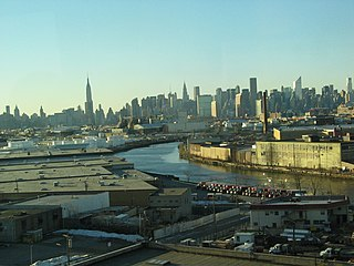 Newtown Creek river in New York City