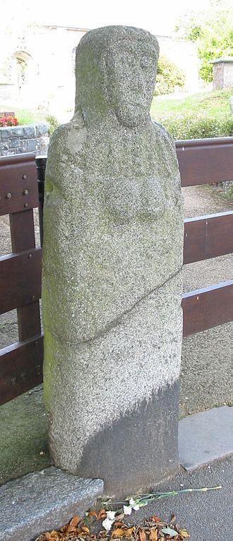 Channel Islands - La Gran'mère du Chimquière, Statue menhir, Saint Martin, Guernsey