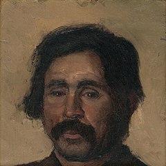 Fragment of a Head Study of a Gypsy