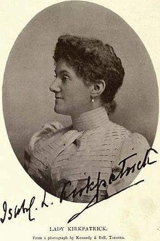 George Airey Kirkpatrick - Image: Lady Isabel Louise Kirkpatrick by Kennedy & Bell, Toronto