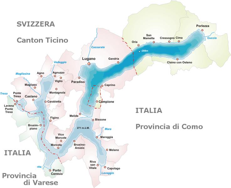 Cartina Svizzera Lugano.File Lago Di Lugano Mappa Png Wikipedia