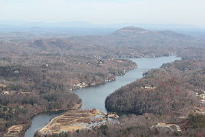 Lake Lure from Chimney Rock.JPG