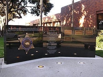Los Angeles County Sheriff's Department - Memorial to deputies killed on duty. Located outside the LASD Lakewood Station.