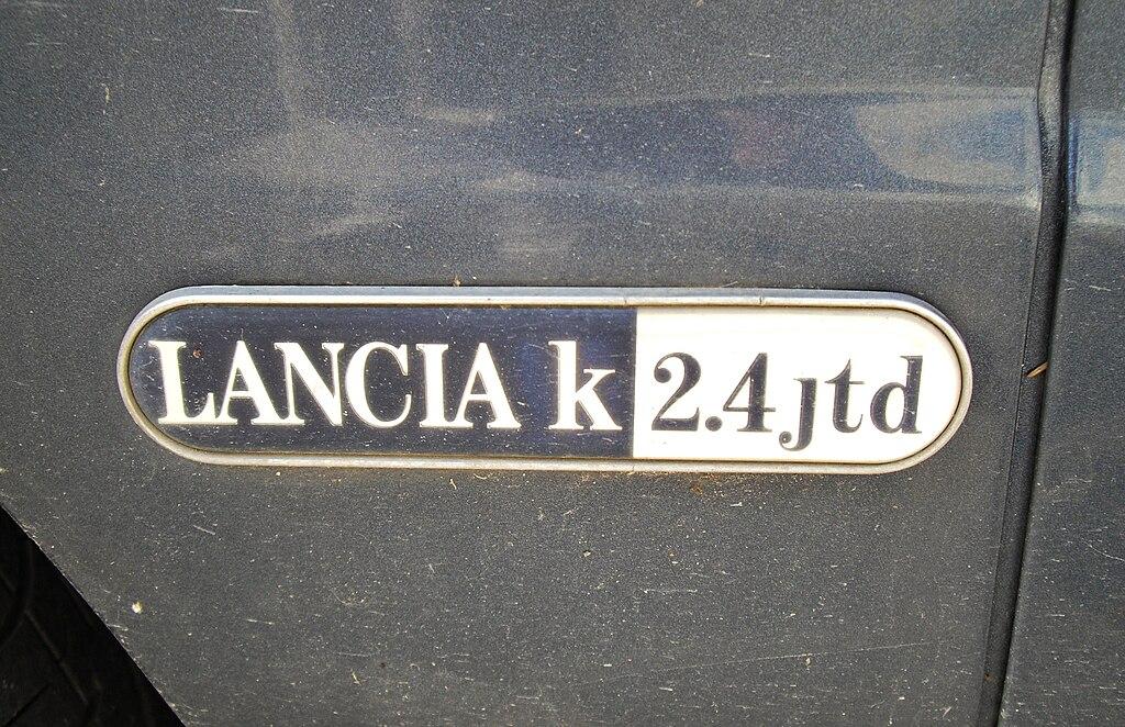 Lancia K 2.4 JTD badge