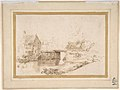 Landscape with a Draughtsman Seated by a River, a Bridge and a Cottage Behind MET DP800470.jpg
