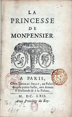 Madame de La Fayette - Image: Laprincessedemontpen sier 1662