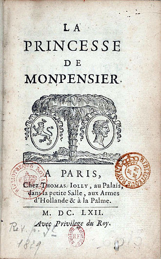 The Princess of Montpensier (novella) - Frontispiece, first edition
