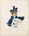 Large Boston Public Garden Sketchbook- A woman walking in the rain under an umbrella MET DT3398.jpg