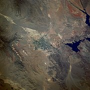 Las Vegas from space (1989 Space Shuttle Photo)