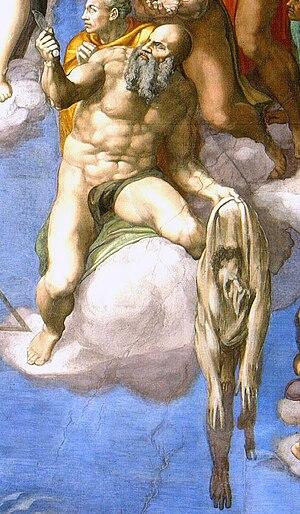 "Detail of Michelangelo's ""The Last Judgem..."