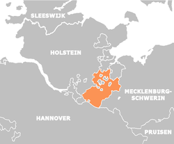Saxe-Lauenburg in 1848 (map in Dutch)
