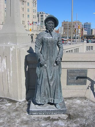 Laura Secord - Statue of Laura Secord at the Valiants Memorial in Ottawa