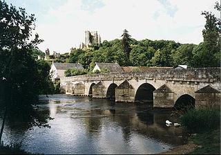 Loir river in France