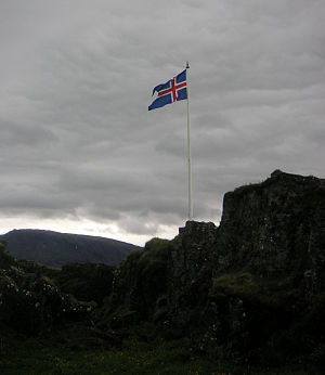 Lögberg - The site of the Law Rock in modern Þingvellir.