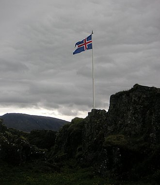 Lögberg - The site of the Law Rock in modern Þingvellir.