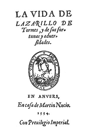 Lazarillo de Tormes - Image: Lazarillo Amberes Martin Nucio