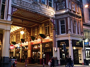 Gracechurch Street - The Gracechurch Street exit of Leadenhall Market.