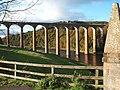 Leaderfoot viaduct from Drygrange Bridge - geograph.org.uk - 1156813.jpg