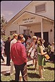 Leakey's Church of Christ after Sunday Services, 07-1972 (3703572397).jpg
