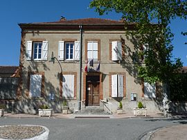 The town hall in Le Faget