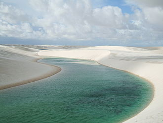 Pond - Pond at the Lençóis Maranhenses National Park, Brazil