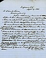 Letter signed H.R. Gamble, Jefferson City, to Charles Gibson, Washington City, September 19, 1861.jpg