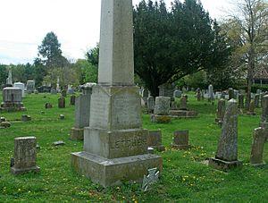 John Letcher - The tomb of John Letcher at Stonewall Jackson Memorial Cemetery (Lexington)
