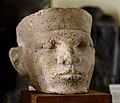 Limestone head of a king. Thought by Petrie to be Narmer. Bought by Petrie in Cairo, Egypt. 1st Dynasty. The Petrie Museum of Egyptian Archaeology, London.jpg