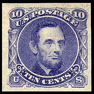 1869 Pictorial Issue - Lincoln 10-cent essay