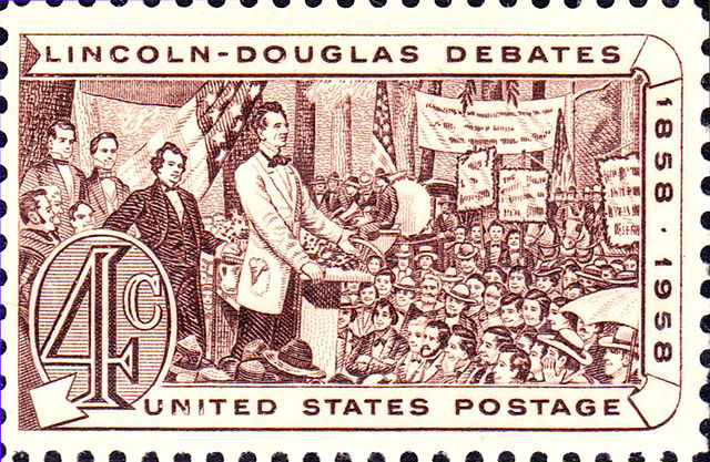 Lincoln_Douglas_Debates_1958_issue-4c.jpg: Lincoln Douglas Debates 1958 issue-4c