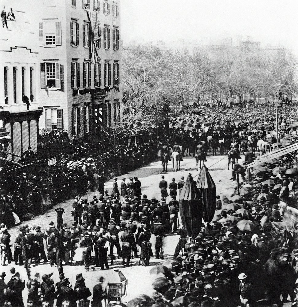 Lincoln Funeral Procession Roosevelt Mansion Broadway