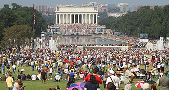 Restoring Honor rally - Image: Lincoln Memorial Reflecting Pool Restoring Honor Crowd