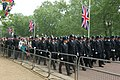 Line of police officers -London, England-29April2011 (1).jpg