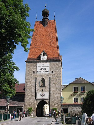 Gate tower - Image: Linzertor 3