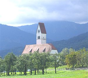 Bad Feilnbach - Church in the village of Lippertskirchen, part of Bad Feilnbach municipality