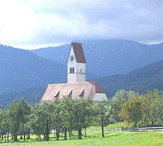Bad Feilnbach - Church in the village of Lippertskirchen, part of Bad Feilnbach municipality